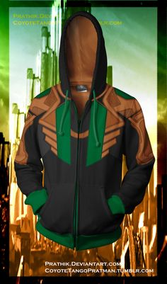 Loki Hoodie! by prathik on deviantART ----> so what wants to buy this for me? lol