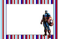 Imprimibles del Capitán América | Ideas y material gratis para fiestas y celebraciones Oh My Fiesta!