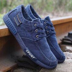 Men  s Denim Canvas Shoes Casual Sports Shoes Cloth Shoes 53d80cf90dac