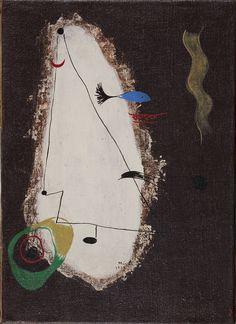 Joan Miro 'Composition' 1927 Oil on canvas 33.5 x 24 cm