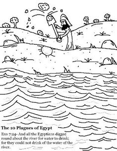 Coloring Pages 10 Plagues Of Egypt God Online Coloring
