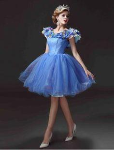 2015 Movie Dress Short Cinderella Adult Costume Prom Dress