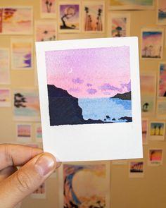 """Robert Talbot on Instagram: """"Paintbrush Polaroids 3.6.19 - 3.5x4.25 - Violet • Paper used: Cold pressed, acid free @artezaofficial Paints: @artezaofficial Brushes:…"""" -  Das schönste Bild für  Beauty tipps und tricks , das zu Ihrem Vergnügen passt Sie suchen etwas u - #35x425 #acid #artezaofficial #Brushes #CoastalScents #Cold #ElfMakeup #EyeMakeup #Eyebrows #Free #Instagram #Lashes #LauraGeller #Paintbrush #Paints #Paper #PicturePolish #Polaroids #pressed #Robert #Talbot #Violet Art Painting Gallery, Sketch Painting, Watercolor Drawing, Watercolor Paintings, Small Canvas Art, Mini Canvas Art, Aesthetic Painting, Mini Paintings, Pastel Art"""