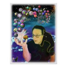 Sphyrical - Digital photo collage of me and my cat Cosmo. He was my spirit familiar and constant companion for 20+ years. Here in this universe we have discovered a source of energy that creates an amazing variety of beautiful spheres. Bubbling out and spiraling away into the cosmos. We are mesmerized. 50% OFF Posters - USE CODE: GETZCREATIVE at checkout to get offer. Good until 5/22/16 11:59PM PT. Over 2600 products at my Zazzle online store  http://www.zazzle.com/greg_lloyd_arts*