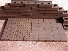 tijolo ecologico - Google Search Brick And Mortar, Brick Wall, Interlocking Bricks, Home Art, Shelters, Architecture, Simple, Building, Google
