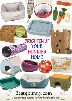 Ways to brighten up your bunnies home! Fab products for your bunny & for their home. For UK products visit here & browse Fun Things & Accessories http://best4bunny.com/bunny-products/.. For US products visit here & browse Accessories & Toys http://astore.amazon.com/best4bunny-20