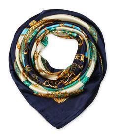 corciova Women's Graphic Print Silk Feeling Square Scarf Neckerchief 35x35 Inches Oxford Blue $9.99 Free Shipping