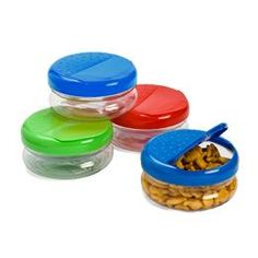 The Container Store Pack-A-Snack Keep dry snacks and treats fresh and accessible with our Pack-A-Snack. It features a flip-top and an easy grip design for small hands. The wide, screw-top lid allows for easy cleaning and refilling. Our Pack-A-Snack is available in an assortment of three colors. Please let us choose the color for you. What is an assorted item? See   More Information BPA-free Made from shatterproof flexible plastic Hand washing is recommended Made in the USA