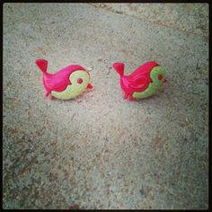 Little bird earrings. Nrbeadz