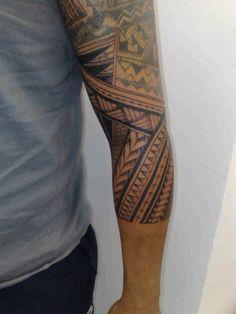 Polynesian Sleeve Tattoo 6