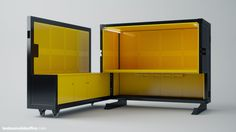 Photo gallery - Beebox Mobile Office space Folding Furniture, Multifunctional Furniture, Cool Furniture, Inspiration Design, Furniture Inspiration, Kiosk Store, Tienda Pop-up, Mobile Kiosk, Garage Office