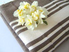 Traditional Turkish Towel, Natural Soft Cotton Bath and Beach Towel (Peshtemal), Brown Summer Cover Up, Turkish Bath Towels, Cotton Towels, Beach Towel, Hand Weaving, Etsy Seller, Fabric, Handmade, Natural