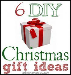 DIY Christmas gift ideas -- Ask Anna