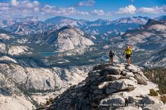 Backpackers on Clouds Rest, Yosemite National Park. Did this hike this past Saturday, the views of the Sierra Nevadas are amazing! For a day hike, it's 14 miles round trip.