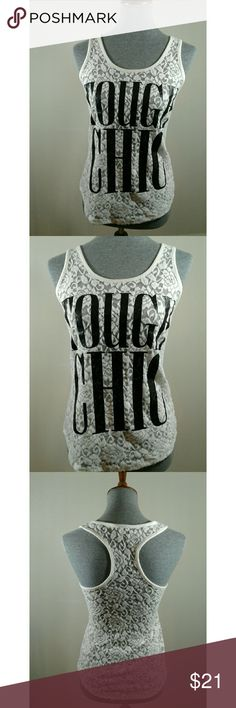 EXPRESS TOUGH CHIC TANK Express Tough Chic Tank Size X-Small  Like New Condition Express Tops Tank Tops