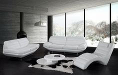 modern style leather sofa white colors