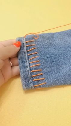 Awesome 100 sewing hacks projects are available on our web pages. Read more and you will not be sorry you did. Point Invisible, Invisible Stitch, Sewing Hacks, Sewing Crafts, Sewing Projects, Sewing Tips, Artisanats Denim, Simple Embroidery Designs, Diy Broderie