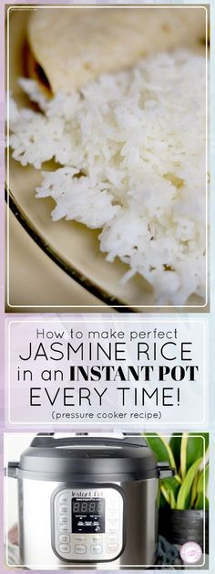 How to make Jasmine Rice in an Instant Pot (Pressure Cooker Recipe) – The Dome. - How to make Jasmine Rice in an Instant Pot (Pressure Cooker Recipe) – The Domestic Diva - Pressure Cooker Rice, Instant Pot Pressure Cooker, Pressure Cooker Recipes, Pressure Cooking, Instant Cooker, Slow Cooker, Rice Cooker Recipes, Jasmine Rice Recipes, Cooking Jasmine Rice