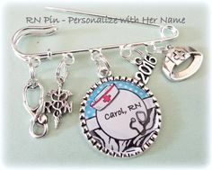 Nurse Graduation Gift  RN Name Pin for by HopeisHipJewelry on Etsy