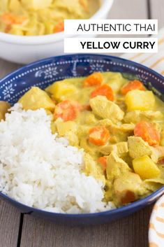 Thai Yellow Curry with chicken is filled with carrots and potatoes for an easy comforting Thai meal. Yellow Curry can be made Vegan by omitting the chicken. Thai Yellow Chicken Curry, Chicken Breast Curry, Thai Chicken, Yellow Curry Recipe, Yellow Curry Paste, Easy Chinese Recipes, Asian Recipes, Ethnic Recipes, Thai Curry Recipes
