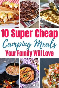 Admit it. You camp for the food! I know I do, but I also love camping food because it can be super easy as well as cheap. Here are a few cheap camping meals and tips to help you make some amazing camping food without breaking your budget. Camping Salads, Camping Food Make Ahead, Camping Cheap, Camping Recipes, Camping Stuff, Cheap Travel, Camping Hacks, Budget Travel, Cheap Meals