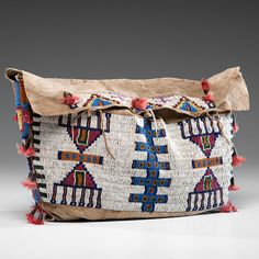 Sioux Beaded Buffalo Hide Possible Bag (9/26/2014 American Indian: Live Salesroom Auction)