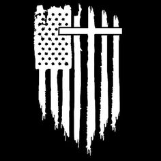 Cool American Flag, Small American Flags, American Flag Decal, American Flag Tattoos, Cross Tattoos For Women, Sleeve Tattoos For Women, Armor Of God Tattoo, Cross Background, Christian Flag