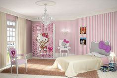 Dormitorio Hello Kitty Romantica - Bedroom Hello Kitty Romantica