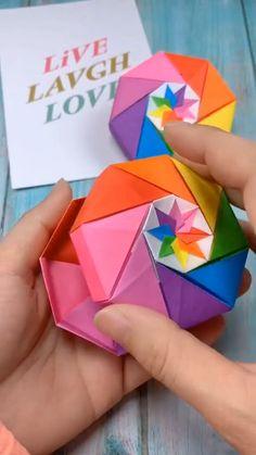 Super easy diy paper craft idea tutorial for kids Diy Crafts Hacks, Diy Crafts For Gifts, Diy Crafts Videos, Easy Diy Crafts, Diy Videos, Handmade Crafts, Paper Crafts Origami, Paper Crafts For Kids, Diy Paper
