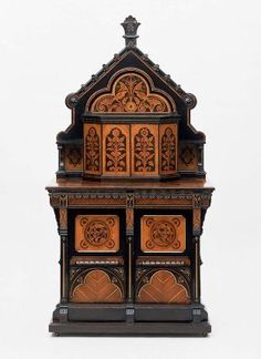 Cabinet, English, about 1870. Designed by Bruce Talbert. Museum of Fine Arts, Boston.