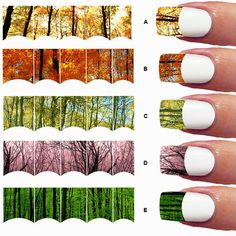 French Tip Camo nail art 40 nail decals Wrap Nail by Marziaforever