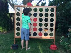 New Backyard Games Kids Connect Four Ideas Backyard Games Kids, Diy Yard Games, Garden Games, Diy Games, Lawn Games, Party Games, Backyard Ideas, Giant Checkers, Giant Connect Four