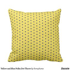 Blue Square Pattern on Coral Throw Pillow - pattern sample design template diy cyo customize Coral Throw Pillows, Decorative Throw Pillows, Blue Square, Blue Polka Dots, Pillow Design, Pillow Patterns, Template, Unique, Gifts