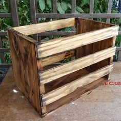 Wine crate storage box