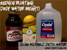 Looking to drop that extra water weight and reduce bloating for a special event?  Try Jillian Michaels detox water