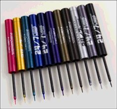 For unbelievable color, go with Urban Decay's 24/7 Liquid Liner. I especially love the blues and gunmetal.