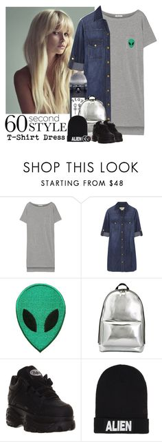 """""""607->60 Second Style:T-Shirt Dress"""" by dimibra ❤ liked on Polyvore featuring T By Alexander Wang, Current/Elliott, 3.1 Phillip Lim, Nicopanda and Hot Topic"""
