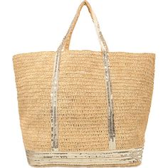 Vanessa Bruno Raffia and Sequins Large Tote Bag in Or Raffia Shopper Tote, Tote Purse, Tote Handbags, Purses And Handbags, Cabas Vanessa Bruno, Fashion E Shop, Fashion Trends, Nude Bags, Sac Week End