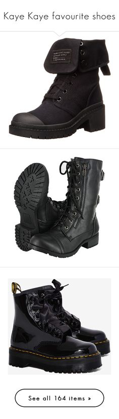 """""""Kaye Kaye favourite shoes"""" by moon-and-back-babe123 ❤ liked on Polyvore featuring shoes, boots, army boots, military boots, military footwear, marc by marc jacobs boots, army shoes, black mid calf boots, combat booties and military lace up boots"""
