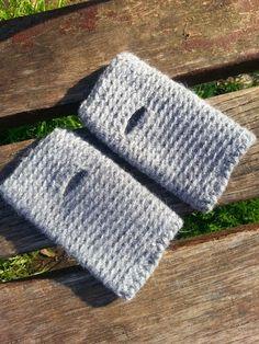 La ventana azul: 101.- Mitones a crochet. STASH-BUSTER (2)