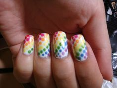 rainbow polka dots .... I THINK SOOO