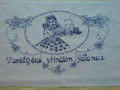 Vyšívaná kuchařka Ručně vyšívané bavlněné bílé plátno, rozměr cca 80x60 cm. Možnost po domluvě zhotovit v jiné barvě vyšívky, případně i plátna s dodáním nejpozději do dvou týdnů. Embroidery Patterns, European Countries, Czech Republic, Ideas, Madeira, Needlepoint, Embroidery Designs