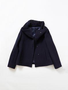 ノーリーズ(NOLLEY'S)のボリュームネックコート Raincoat, Coats, Jackets, Fashion, Rain Jacket, Down Jackets, Moda, Wraps, Fashion Styles