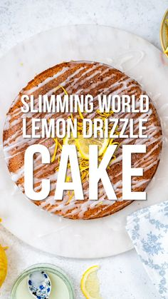 Slimming World Lemon Cake This Slimming World Lemon Drizzle Cake will satisfy your cravings without piling on the calories. An airy sponge cake soaked with lemon syrup drizzled with a light glaze – perfect with a cup of tea and only 4 syns per slice! Slimming World Desserts Puddings, Slimming World Cookies, Slimming World Pancakes, Slimming World Deserts, Slimming World Speed Food, Slimming World Vegetarian Recipes, Slimming World Recipes Syn Free, Slimming World Biscuits, Slimming World Groups