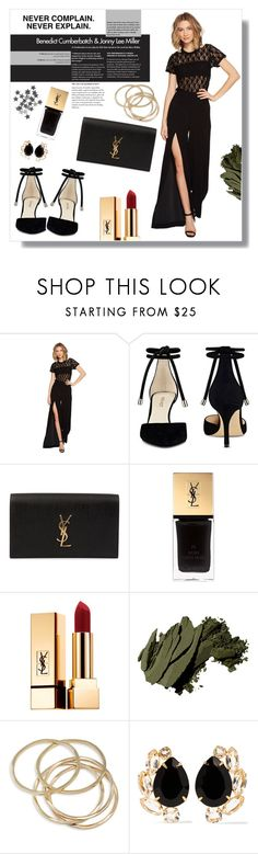 """""""NEVER COMPLAIN. NEVER EXPLAIN."""" by mooncacti ❤ liked on Polyvore featuring Nicole Miller, Nine West, Yves Saint Laurent, Chanel, Bobbi Brown Cosmetics, ABS by Allen Schwartz and Bounkit"""