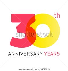 Template logo 30th anniversary with a circle in the form of a graph and the number 3. 30 anniversary years logo