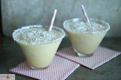 frozen banana coconut daiquiris