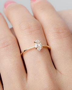 This White Zirconia Marquise Ring Gold Vermeil Sterling Silver is just one of the custom, handmade pieces you'll find in our wedding & engagement shops. Thin Gold Rings, Dainty Gold Rings, Yellow Gold Rings, Silver Rings, Silver Jewelry, Rose Gold, White Gold, Marquise Ring, Marquise Cut