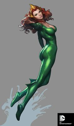 DC Cover Girls - Mera by Artgerm.deviantart.com on @deviantART