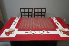toalha mesa natal